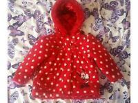 Minnie mouse coat 9-12 months