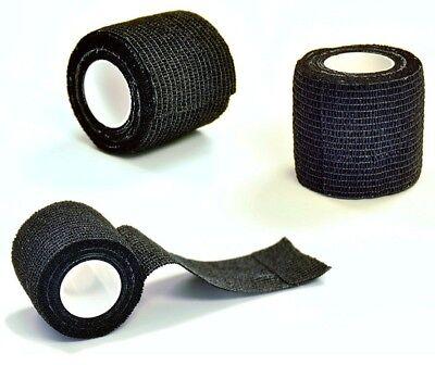NEW 12PK Black Color Self Adhesive Cohesive Bandage Wrap 2