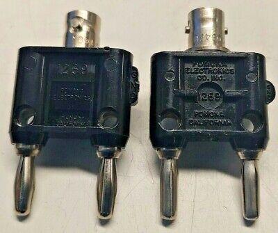Pomona 1270 Female Bnc To Double Banana Plug Adapter - Lot Of 2