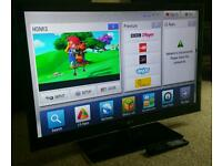 "LG 42"" Slim LED 3D CINEMA FULL HD SMART TV FREEVIEW HD, 3D GLASSES NEW CONDITION FULLY WORKING TV"