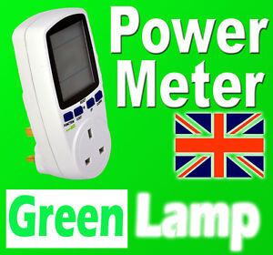 New Power Meter Energy Monitor  Esocket Plug-in KWH Watt Electricity Meter UK