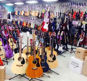 GUITARS new from $99.99, Private Music Lessons $13.50