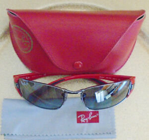 RAY BAN RED SUNGLASES *NEW* WITH CASE & CLEANING CLOTH