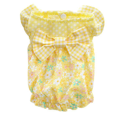 Girl Pet Dog Clothes Dress Puppy Shirt Vest Costume Apparel for yorkie Schnauze (Puppy Costumes For Girls)
