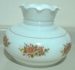 Vintage Milk Glass Hurricane Lamp Replacement Globe/ Shade