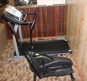 CARDIO TRACK TREADMILL AND CARDIO STYLE ORBITRACK ET100