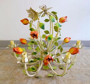 Chandeliers lustres fleurs vintage italien français ceiling lamp