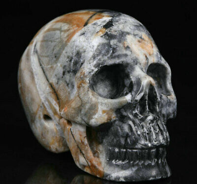 """2.0"""" Picasso Jasper Carved Crystal Skull, Realistic, Crystal Healing"""