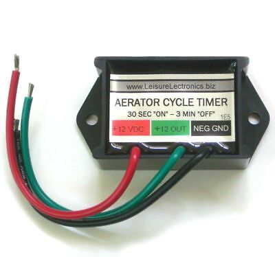 AUTOMATIC Cycling 12V Livewell Aerator Timer Switch fish Boat Controller ()
