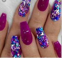 """Full Set of enVogue """"PURE"""" Gel Nails ****NO ACRYLIC INGREDIENTS*"""