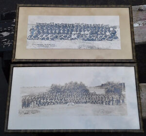 Lot of 2 pre-WW2 regimental photos, original frames, Lunenburg