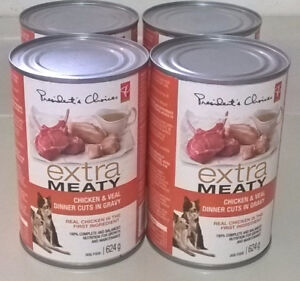 PC Extra Meaty Dog Food Chicken & Veal Dinner Cuts in Gravy