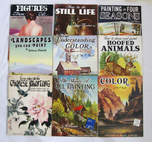 NEUF  LIVRES..PEINTURES WALTER FOSTER HOW TO PAINT8 BOOK SET