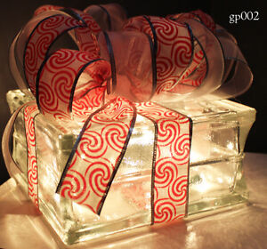 ONLY 6 LEFT - Hand Made Light Up Glass Presents