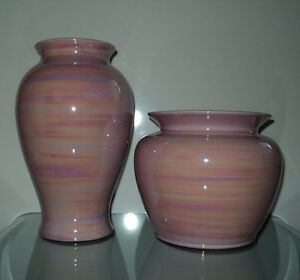 NEW 2 PINK SWIRL DESIGN DECORATIVE VASES HOME DECOR SEARS NWT Cornwall Ontario image 7
