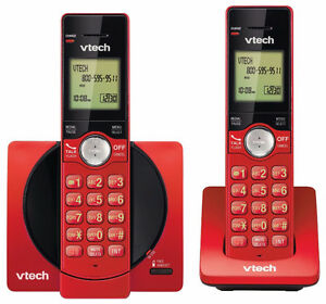 VTech DECT 6.0 Dual Handset Cordless Phones with CID, Backlit