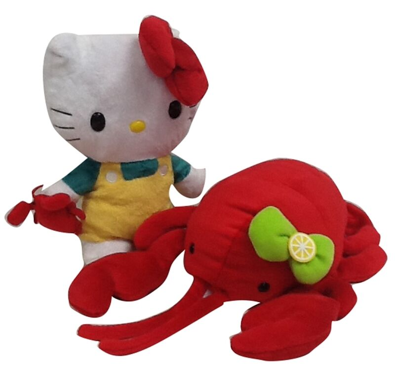 "SANRIO AUTHENTIC HELLO KITTY REVERSIBLE 8"" PLUSH: LOBSTER"
