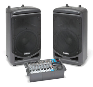 Samson PA system with Mixing board