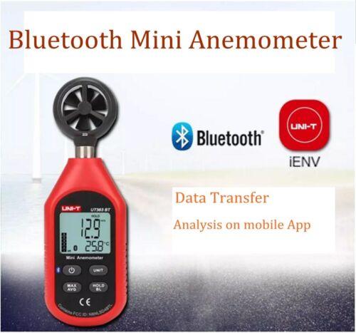 UNI-T UT363BT Digital Bluetooth Anemometer Wind Speed Meter Thermometer 0-30m/s