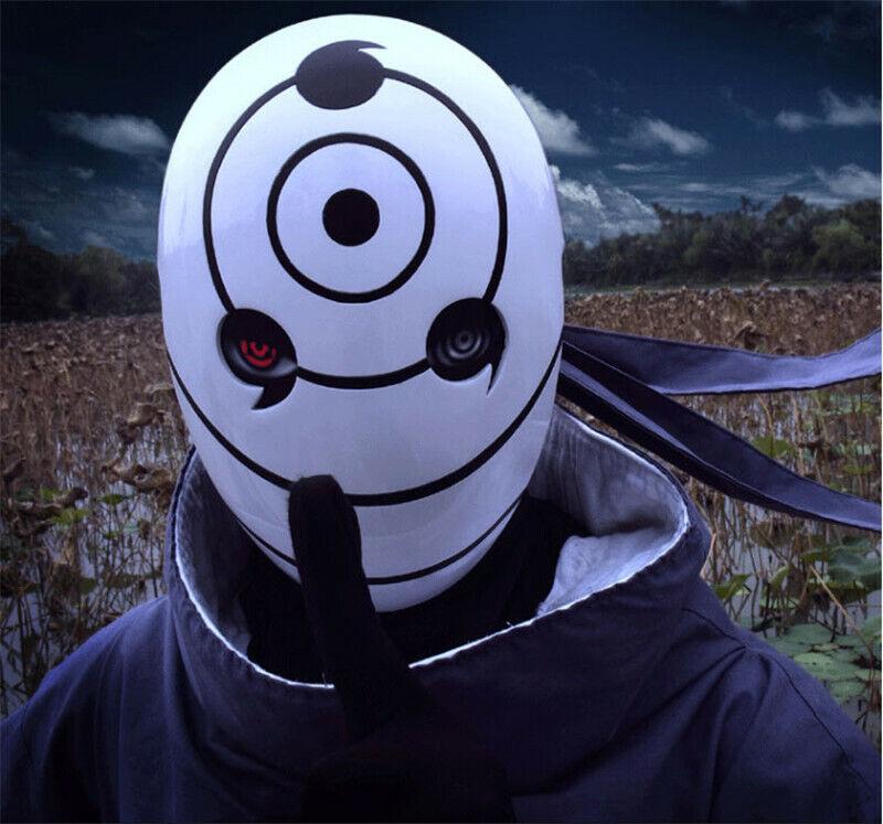 Anime Naruto Uchiha Madara Tobi Cosplay Mask Collection Halloween Party Props