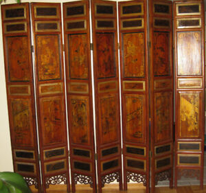 Oriental Privacy Screen -One of a Kind Decor