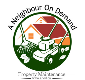 Spring yard cleanup and lawn maintenance
