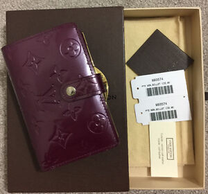 Authentic Louis Vuitton Vernis in Violet French Wallet