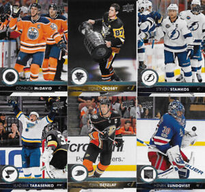 COLLECTION set 2017-18 Upper Deck Hockey Series CARTES 1 &2
