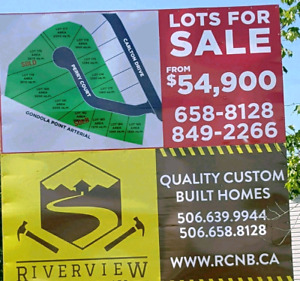 Land for sale in Kingsview subdivision.  Only 3 lots remain!