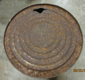 Vintage large SHELL Grease or oil can Cornwall Ontario image 4