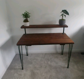 Reclaimed wood Industrial style desk