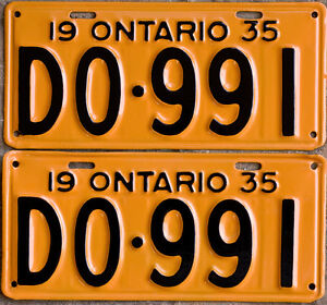 YOM Licence Plates For Your Old Auto - Ministry Guaranteed! Cornwall Ontario image 4