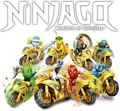 Ninjago Lot Season 11 Custom Golden Motorcycles 9 Minifigures Set For Lego - USA