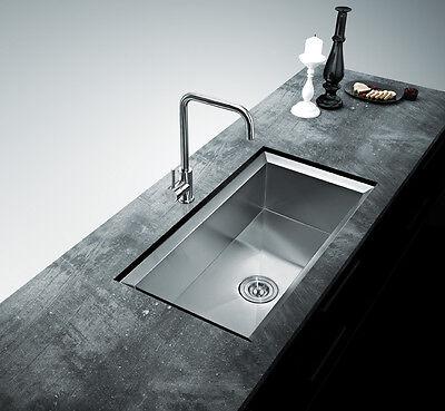 """32"""" Under Mount Single Bowl Stainless Steel Design Kitchen Sink Hand Made 16G"""