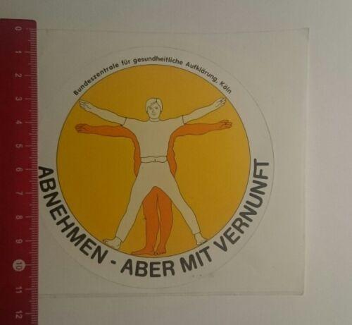 Aufkleber/Sticker: Abnehmen aber mit Vernunft (15011743)