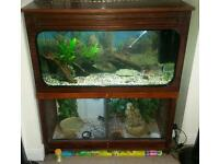 3ft fish tank comes with built in vivariums