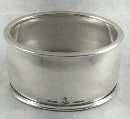 """Oval A. Dragsted Denmark Sterling Napkin Ring-1"""""""