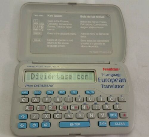 1998 Franklin 5-Language European Translator Plus DataBank TWE-106a