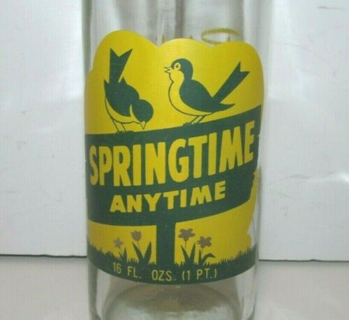 Vintage Springtime Anytime 16 Oz. Soda Bottle - Sheboygan, Wisconsin