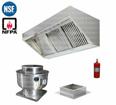 8 Ft Concession Trailer Food Truck Hood System Captiveaire Fan Fire System