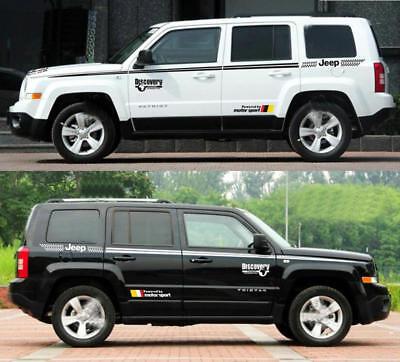 Graphic Auto Waist Line Stripe Car Sticker Decal For Jeep Patriot Cherokee 2 PCS