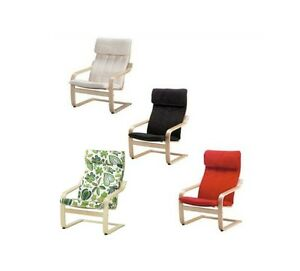 Ikea poang cushion and cover chair not included black red beige green ebay - Red poang chair ...
