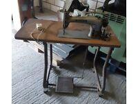 Vintage semi industrial singer sewing machine