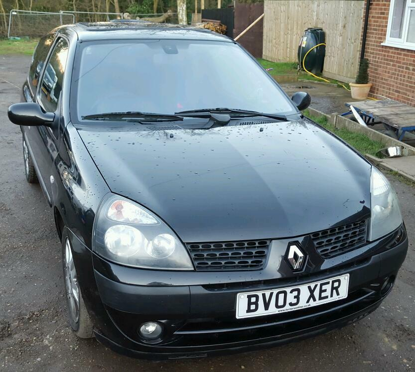 renault clio 2003 billabong 1 2 16v mot 20 july 2016 in southminster essex gumtree. Black Bedroom Furniture Sets. Home Design Ideas