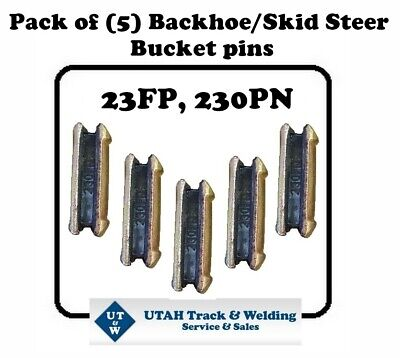 Set Of 5 Backhoe Skid Bucket Pins 23fp 230pn For 230 Size Hl Teeth