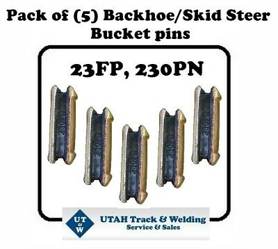 Set Of 5 Backhoe Skid Bucket Pins 23fp 230pn For 230 Size Hl Teeth