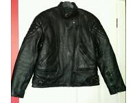 Leather motorcycle jacket size large 40-42 inch chest.