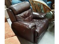 As new Good quality Leather Electric recliner chair