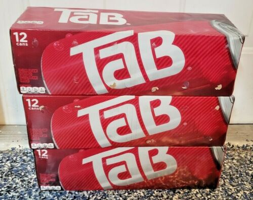 (3) TAB COLA 12 CANS FRIDGE PACK 12 OZ EACH NEW IN BOX DIET SODA DISCONTINUED