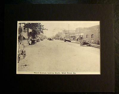 Third Avenue Looking South  West Point  Ga   Print